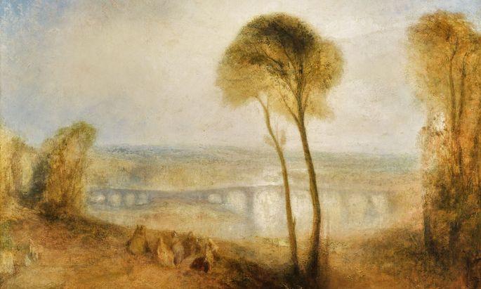"""William Turners Spätwerk """"Landscape with Walton Bridges"""" erzielte bei Sotheby's 8,2 Millionen Pfund."""