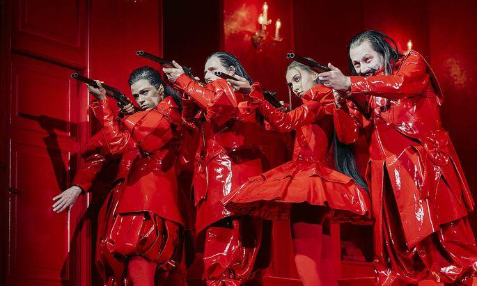 Die Jagdgesellschaft von Thomas Bernhard ist diese Saison im Wiener Akademietheater zu sehen.