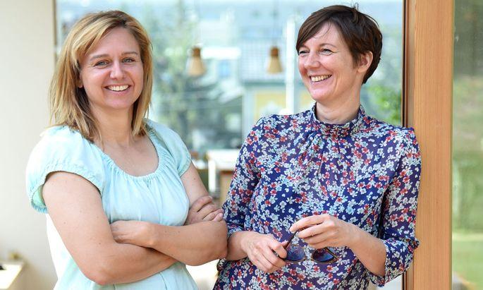Die Architektinnen Ulla Unzeitig und Iris Kaltenegger klopfen an viele Türen, um sie allen Wienern ein Wochenende lang zu öffnen.