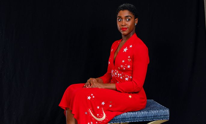 Actor Lashana Lynch poses for a portrait for Captain Marvel in Beverly Hills