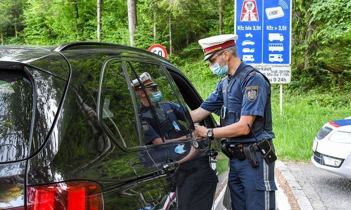 Polizeikontrolle in Vorarlberg (Symbolbild)