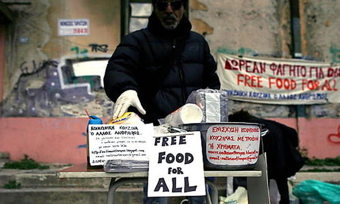 GREECE FINANCIAL CRISIS SOUP KITCHEN