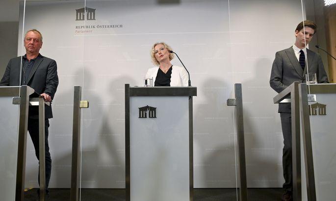 Für sie sind noch einige Fragen offen: Wolfgang Zanger (FPÖ), Karin Greiner (SPÖ), Douglas Hoyos (Neos). (Archivbild)