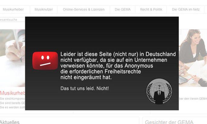 Anonymous hackt deutsche Musiklobby