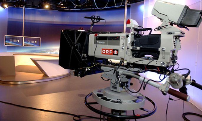 Traum-Arbeitsplatz vieler Publizistik-Studenten: Das ZIB-Studio.