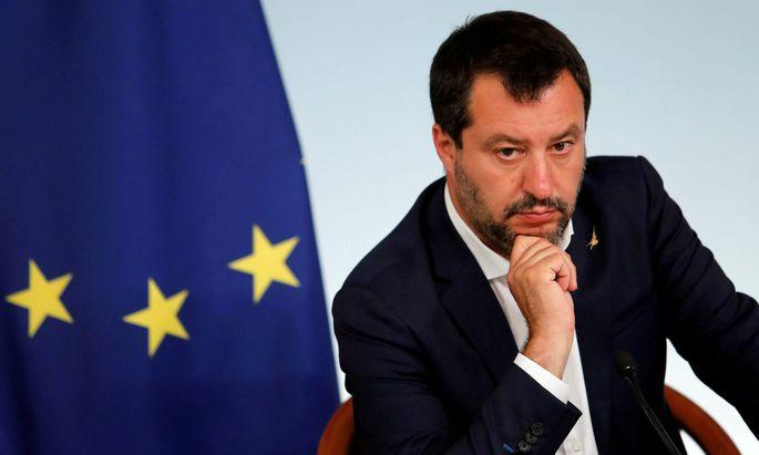 Der italienische Innenminister und Chef der rechten Regierungspartei Lega, Matteo Salvini