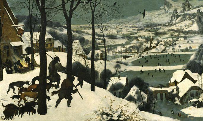 """Bruegels """"Die Jäger im Schnee"""" (1565) zeugen von der Kleinen Eiszeit, die bereits 200 Jahre zuvor begonnen hatte."""