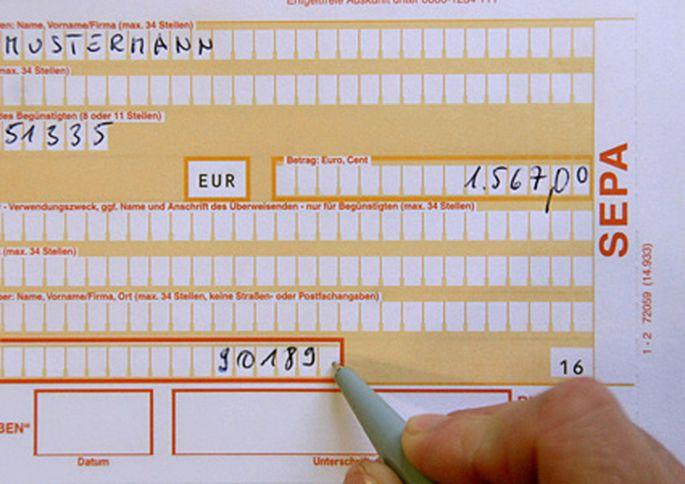 Generell ausgeschlossen vom Datenaustausch sind innereuropäische Zahlungen über die SEPA.
