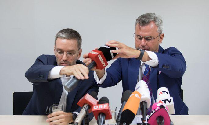 Wer hat in der FPÖ das Sagen: Klubchef Herbert Kickl (l.) oder Parteiobmann Norbert Hofer?