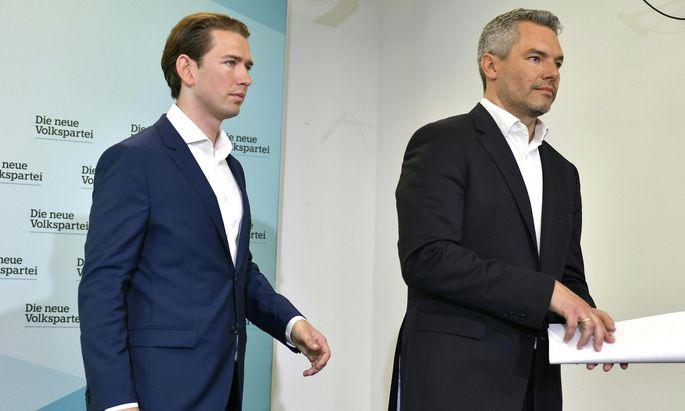 ÖVP-Chef Sebastian Kurz und Generalsekretär Karl Nehammer