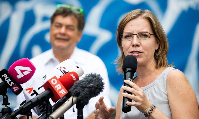 Leonore Gewessler, Listenzweite für die NR-Wahl und Spitzenkandidat Werner Kogler