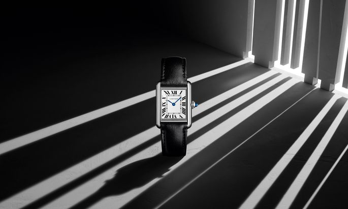 """Die """"Tank"""" von Cartier ist ein Klassiker. Ab September gibt es sie erstmals auch mit Solarantrieb."""