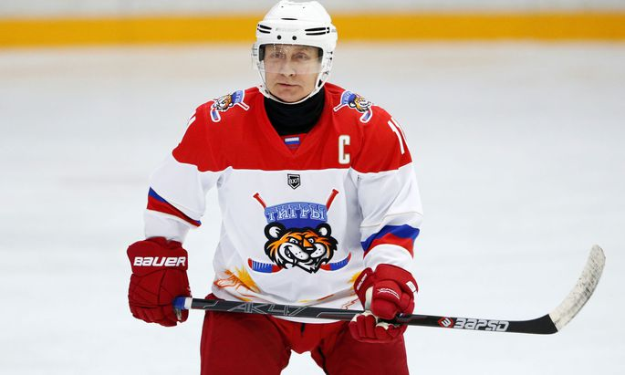 Putin beim Eishockeyspiel vor einigen Tagen.