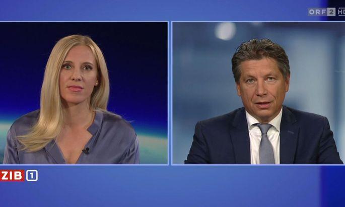 """Der Leiter der """"ZiB""""-Innenpolitik, Hans Bürger, wurde am Samstag in der """"ZiB"""" interviewt."""