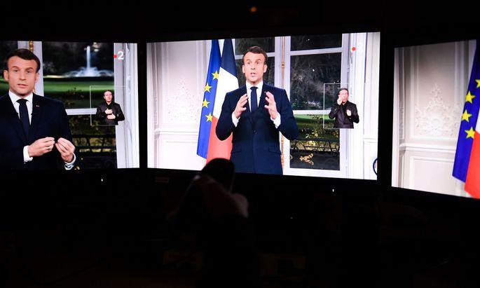 Frankreichs Präsident Emmanuel Macron bleibt bei Rentenreform hart