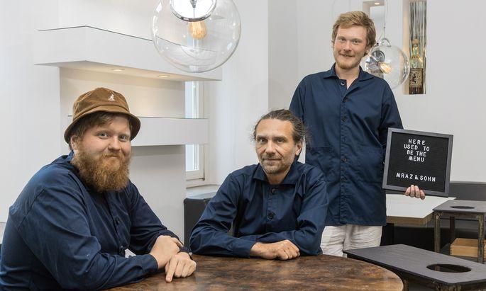 Team: Lukas, Markus und Manuel Mraz, nun fix als Vater-Söhne-Gespann gemeinsam am Werk.