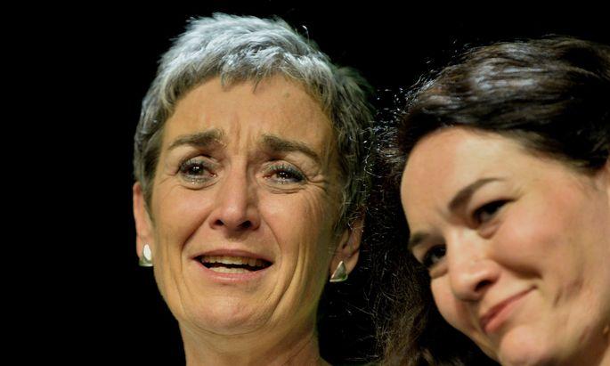 Die Grünen-Doppelspitze: Ulrike Lunacek und Ingrid Felipe