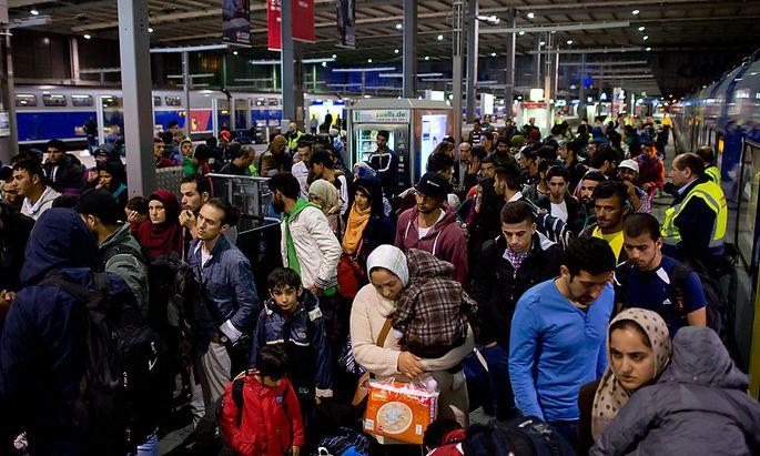 München Hauptbahnhof am Samstag