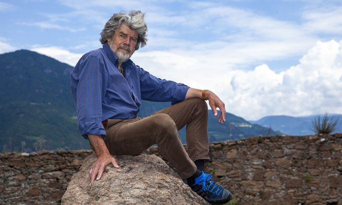 Reinhold Messner Visits ´Der verzauberte Berg´ Exhibition At Messner Mountain Museum
