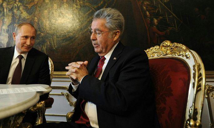 Heinz Fischer besucht Wladimir Putin