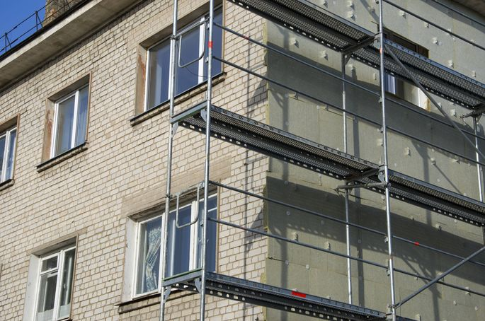 Renovierung mit Thermoisolierung