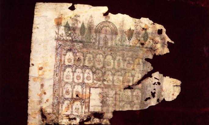 Moschee / Ill. einer Koran-Handschrift - Mosque / Cover of a Koran Manuscr./ C8 - Mosquée / Illust. d'un Coran manuscrit