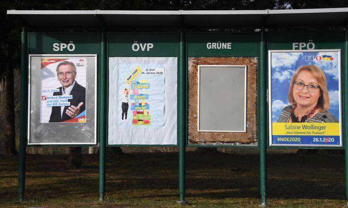 In Niederösterreich finden am 26. Jänner Gemeideratswahlen statt.