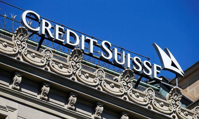Das Logo der Schweizer Bank Credit Suisse