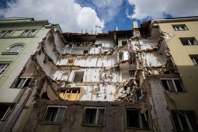 Die Wiederverwertung von Abbruchabfällen steckt noch in den Kinderschuhen. Im Bild: Abbruchhaus in Wien Wieden.