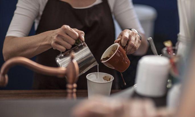 Den Kaffee-Baristas fehlen die Büroangestellten als Kunden.