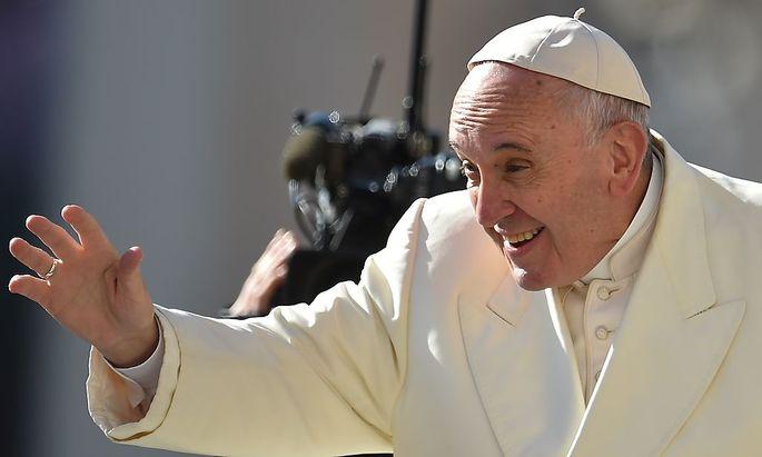 Der Papst vor seiner Generalaudienz in Rom.