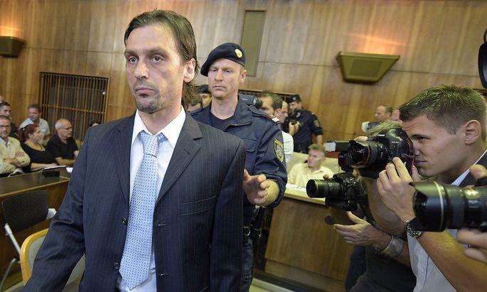 Archivbild: Sanel Kuljic im August 2014 vor Gericht