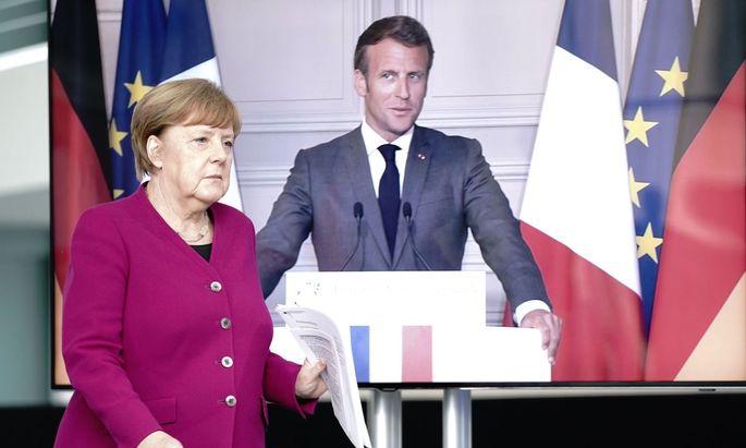 Merkel und Macron präsentieren den Fonds-Vorschlag per Videoschalte