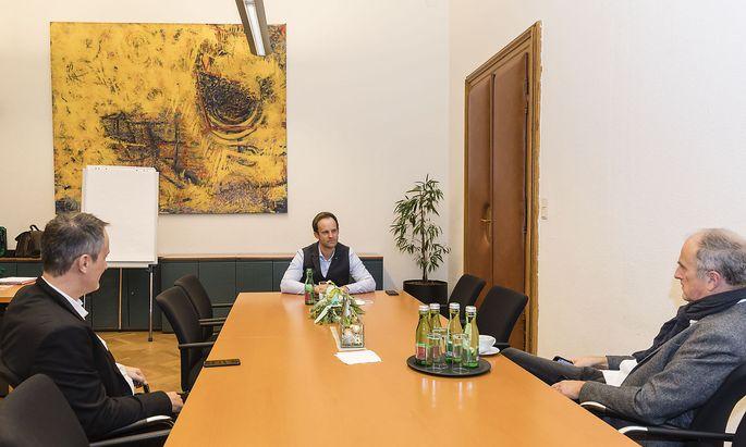 Markus Wölbitsch (Mitte) im Interview mit Dietmar Neuwirth (rechts) und Martin Stuhlpfarrer