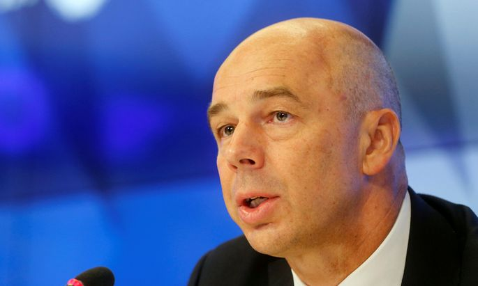 Russian Finance Minister Siluanov speaks during news conference in Moscow