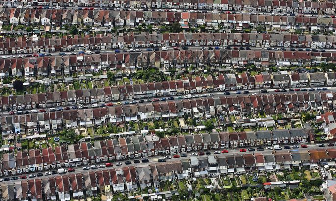 Terraced Housing, Portsmouth: An Aerial View