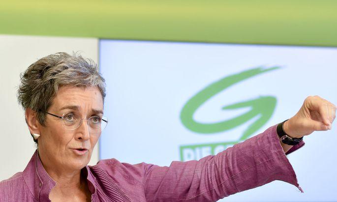 Die grüne Spitzenkandidatin Ulrike Lunacek
