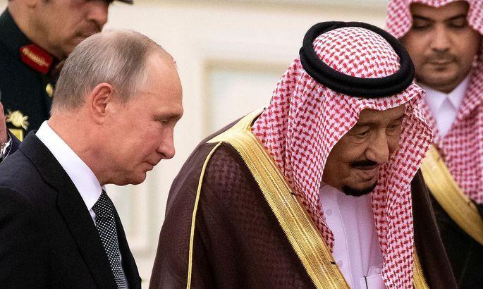 Archivbild: Wladimir Putin und der saudische König Salman