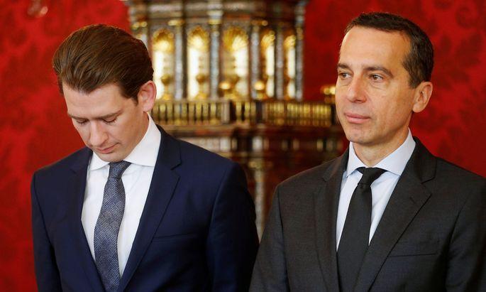 Der Kanzler und der neue ÖVP-Chef haben im Vertrauensindex verloren