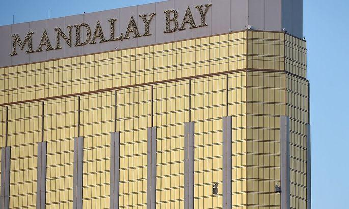 Aus dem 32. Stock des Mandalay Bay Hotels in Las Vegas schoss Stephen Paddock auf Konzertbesucher.
