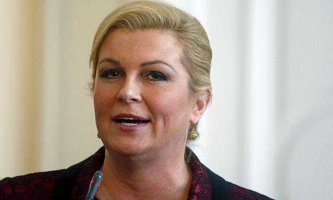Die neu gewählte kroatische Präsidentin Kolinda Grabar-Kitarovic.