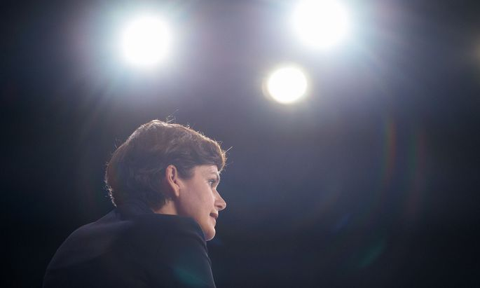 Die SPÖ-Chefin beim Bundesparteitag in der Messe Wien.
