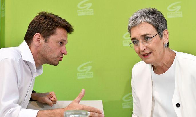Grüne Mobilmachung durch Klubchef Steinhauser und Spitzenkandidatin Lunacek.