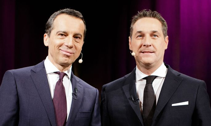 vlnr.: Bundeskanzler Christian Kern und FPÖ-Bundesparteichef Heinz-Christian Strache
