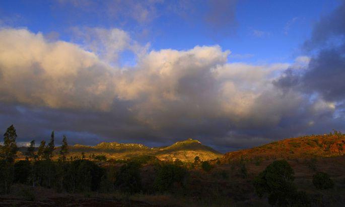Gerodeter Regenwald auf Madagaskar.