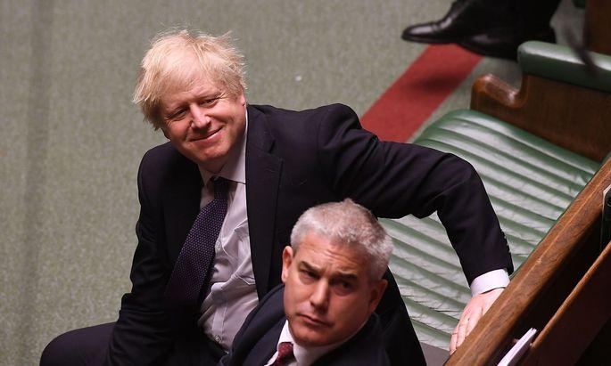 Boris Johnson am Freitag im Unterhaus.