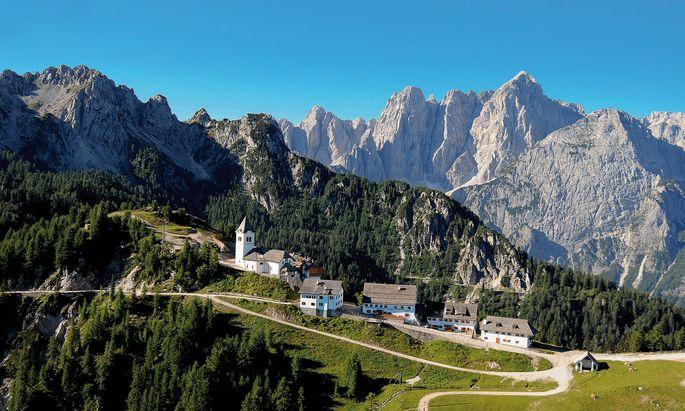 Zum Start geht's auf den Monte Lussari.