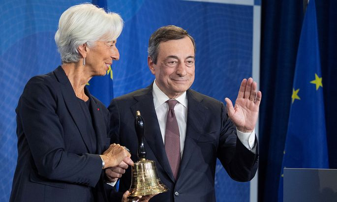 A farewell event for the ECB's outgoing President Mario Draghi in Frankfurt