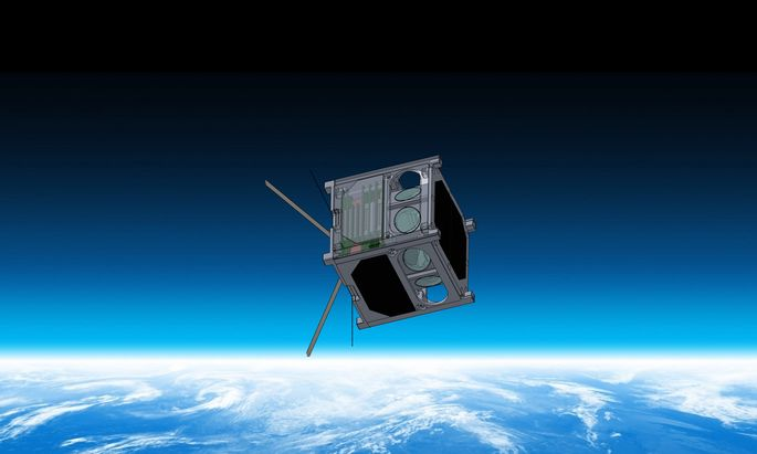 "Der CubeSat ""Disco One""."
