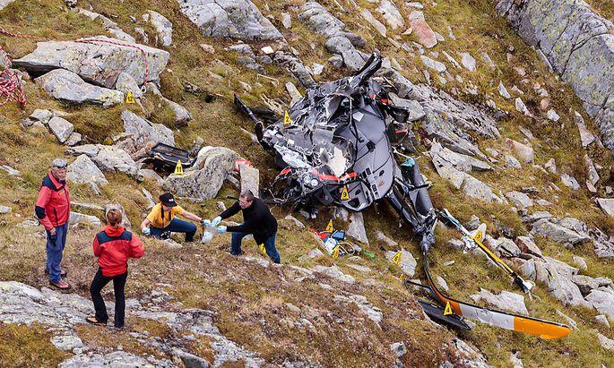 Die Unfallstelle am Tag nach dem Crash
